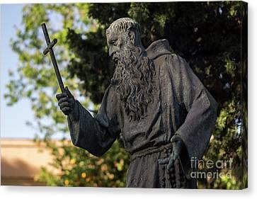 Canvas Print featuring the photograph Monument To Fray Pablo De Cadiz Alameda Apodaca Cadiz Spain by Pablo Avanzini