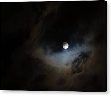 Moon And The Clouds Canvas Print