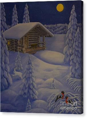 Frost Canvas Print - Moonlight by Veikko Suikkanen