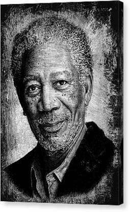 Morgan Freeman Canvas Print by Andrew Read