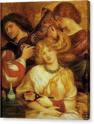 Morning Music Canvas Print by Dante Gabriel Rossetti