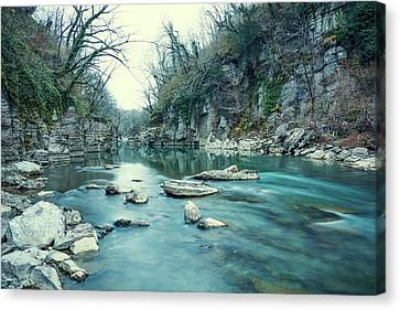 Mountain River Canvas Print by Svetlana Sewell