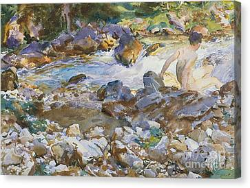 Mountain Stream Canvas Print by John Singer Sargent