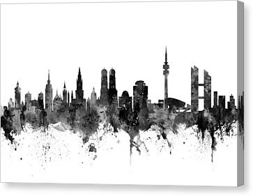 Munich Germany Skyline Canvas Print