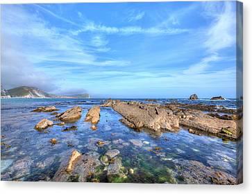 Ledge Canvas Print - Mupe Bay - England by Joana Kruse
