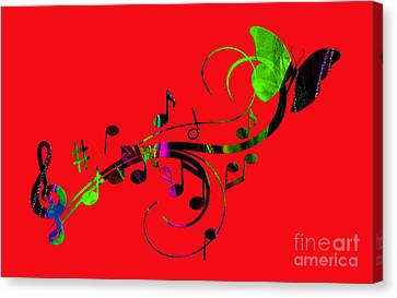 Music Flows Collection Canvas Print by Marvin Blaine