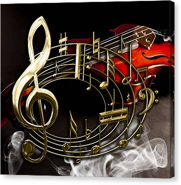 Musical Collection Canvas Print by Marvin Blaine