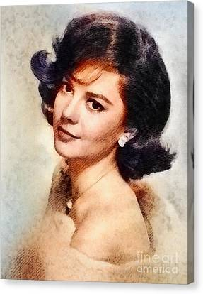 Glamor Canvas Print - Natalie Wood, Vintage Hollywood Actress by John Springfield