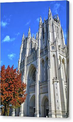 Canvas Print featuring the photograph National Cathedral by Mitch Cat