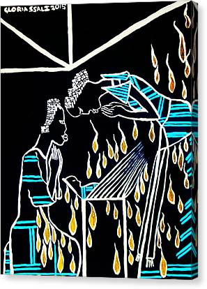 Nativity Canvas Print by Gloria Ssali