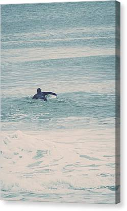 Casino Pier Canvas Print - New Jersey Surfers by Erin Cadigan