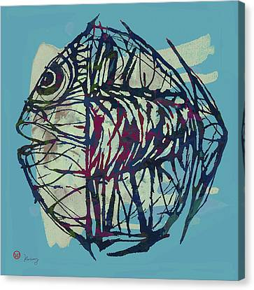 New Pop Art Tropical - Fish Poster Canvas Print by Kim Wang