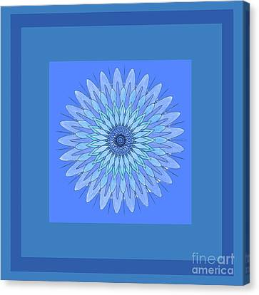 Blue Star By Jammer Canvas Print