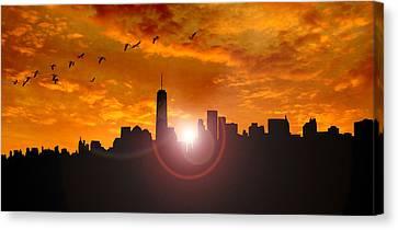 New York Skyline Canvas Print by Martin Newman