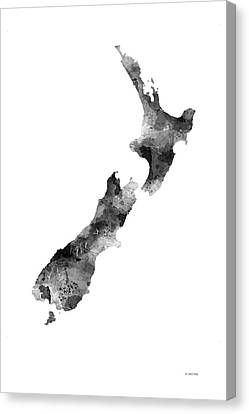New Zealand Map Canvas Print