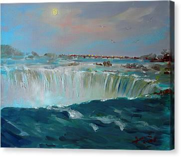 Waterfalls Canvas Print - Niagara Falls by Ylli Haruni