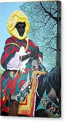 Nigerian On Horseback Canvas Print by Bernard Goodman