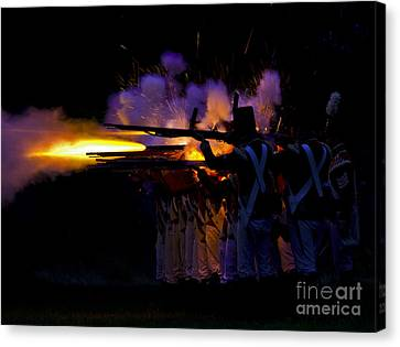 Night Battle Canvas Print