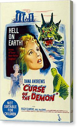 Horror Fantasy Movies Canvas Print - Night Of The Demon, Aka Curse Of The by Everett