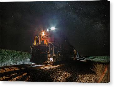 Night Train  Canvas Print by Aaron J Groen