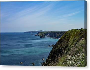 Canvas Print featuring the photograph North Coast Cornwall by Brian Roscorla