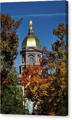 Notre Dame's Golden Dome Canvas Print by Mountain Dreams