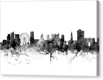 Nottingham England Skyline Canvas Print by Michael Tompsett