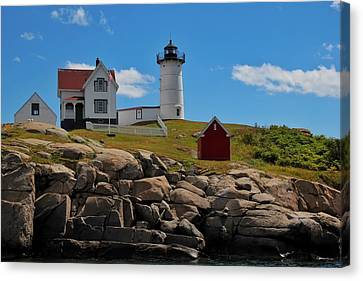 Nubble Lighthouse Canvas Print by Luisa Azzolini