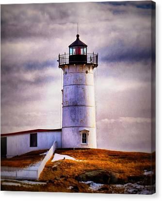 Nubble Lighthouse Canvas Print - Nubble  by Tricia Marchlik