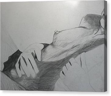 Nude Model In Studio Canvas Print