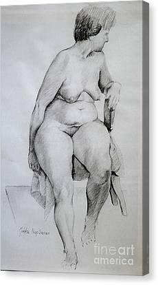 Nude Study Canvas Print by Jukka Nopsanen