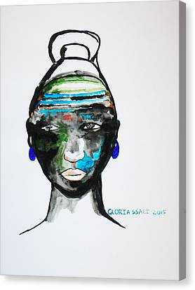 Nuer Bride - South Sudan Canvas Print by Gloria Ssali
