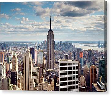 Nyc Empire Canvas Print by Nina Papiorek