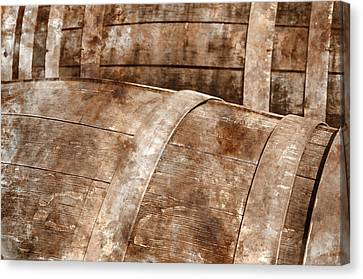 Oak Wine Barrel Close Up Canvas Print