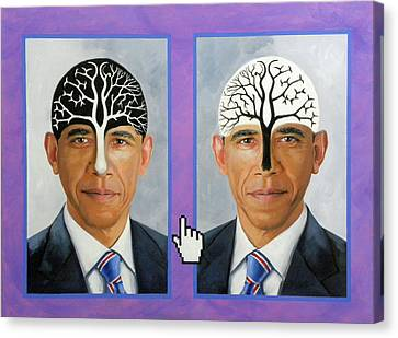 Obama Trees Of Knowledge Canvas Print by Richard Barone