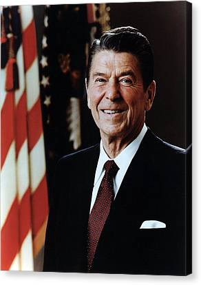 Official Portrait Of President Reagan Canvas Print by Everett