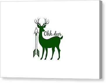Ohh Deer Canvas Print