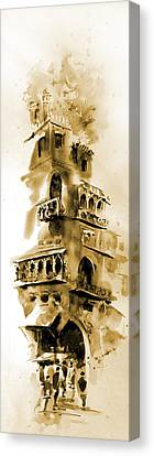Old Lahore Canvas Print by M Kazmi