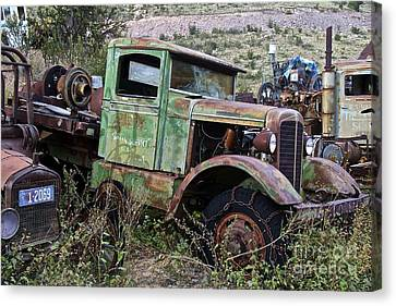 Old Truck Canvas Print by Anthony Jones