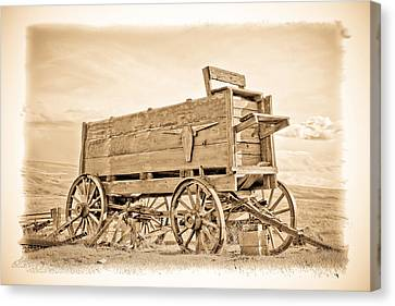 Old West Wagon  Canvas Print by Steve McKinzie