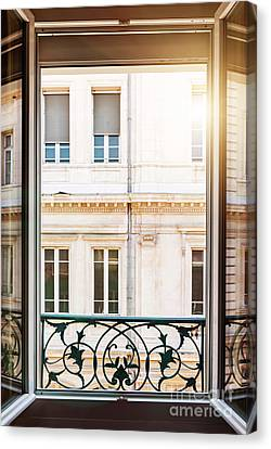 Sunflare Canvas Print - Open Window In Toulouse by Elena Elisseeva