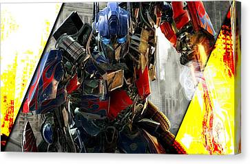 Optimus Prime Transformers Collection Canvas Print