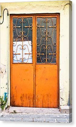 Orange Door Canvas Print by Tom Gowanlock