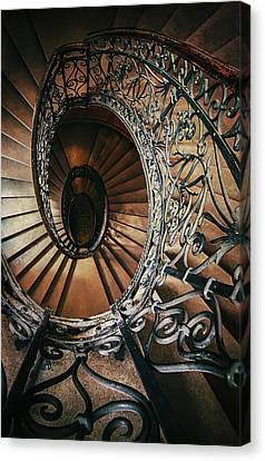 Canvas Print featuring the photograph Ornamented Spiral Staircase by Jaroslaw Blaminsky