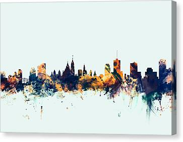 Ottawa Canada Skyline Canvas Print by Michael Tompsett