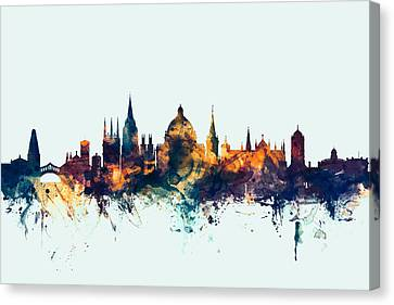Oxford England Skyline Canvas Print by Michael Tompsett