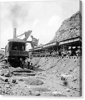 Panama Canal - Construction - C 1910 Canvas Print by International  Images