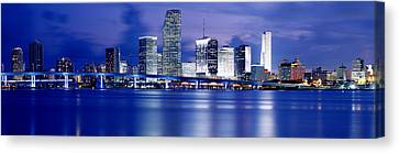 Panoramic View Of An Urban Skyline At Canvas Print