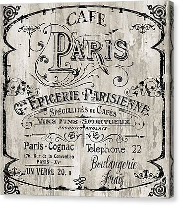 Vintage Sign Canvas Print - Paris Bistro  by Mindy Sommers
