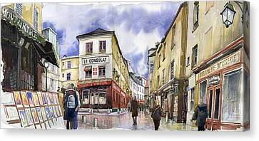 Paris Montmartre  Canvas Print